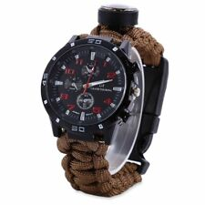 Upgraded Survival Watch - Deluxe Survival Gear - Paracord Watch with Thermometer