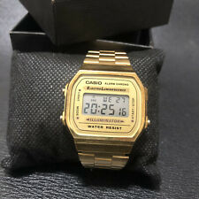 Casio Mid Size Gold Tone Digital Retro Watch (Illuminator)