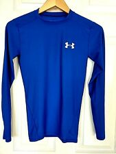 Under Armour Blue Long Sleeve Heat Gear Compression Base Layer Shirt Youth Small