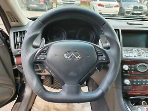 Sport Steering Wheel for Infiniti G35 4dr G37 G25 EX35 EX37 QX50 New BLACK