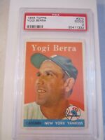 1958 YOGI BERRA #370 TOPPS BASEBALL CARD PSA GRADED 2 GOOD - BOX CC