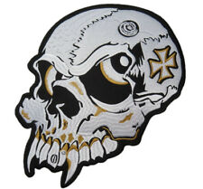 "Vampire Demon Maltese Cross Motorcycle Rider Skull Jumbo XL Back Patch 11""x8"""