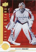 17/18 UPPER DECK SHINING STARS RED #SSG-1 BRADEN HOLTBY CAPITALS *42971