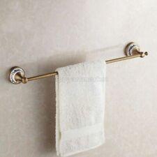 Retro Antique Brass Ceramic Base Bathroom Wall Mounted Single Towel Rails Bars