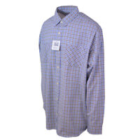 Carhartt Men's S28 Blue Yellow Plaid L/S Woven Shirt XL-2XLT (Retail $45)