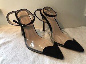 Ladies Public Desire Ankle Strap Shoes Size 6