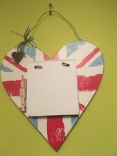 Heart House Kitchen Plaque Shabby Chic With Note Pad