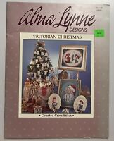 1986 Alma Lynn Designs Counted Cross Stitch Victorian Christmas Pattern Booklet