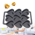 9 Molds Cast Iron Heart Cookie Candy Mold Corn Muffin Cake Baking Pan Tools