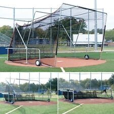 Backstop / Batting Cage For A Pitching Machine