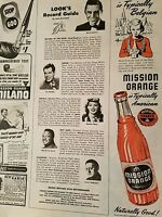 1946 Mission orange soda bottle  typically Belgian ad