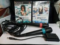 PS2 SingStar - Country & Pop Vol 2 Bundle W/ 2 Microphones/Adapter PlayStation 2