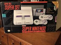 Super Nintendo Entertainment System Console Box & Styrofoam Only With One Insert