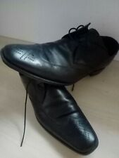 Design Loake Stitch Black Leather Shoes UK 8 Width F