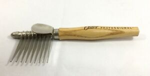 Vintage Oster Germany Wood & Metal Grooming Comb Tool