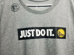 Nike Authentic Just Do It NBA Golden State WARRIORS Basketball T-shirt Men 2XL
