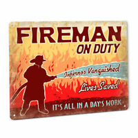 Fireman On Duty SIGN for FDNY CDF FEMA Fire Department Firefighting Station 101