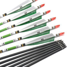 6PCS Strong Carbon Shaft Spine 500 Length 80cm Arrows W True Turkey Feather