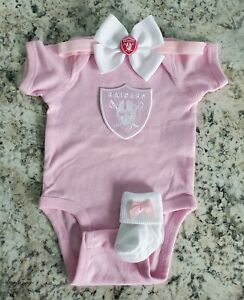 Raiders baby/toddler clothes girl Raiders baby gift Pink Raiders newborn clothes