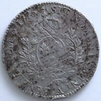 FRANCE LOUIS XVI ECU AUX BRANCHES D'OLIVIER 1775 A