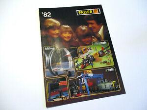 Faller Spielzeug Katalog Prospekt 1982 Modelle ams Racing Train Playtrain etrain