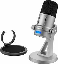 Insignia- USB Microphone - Silver/black