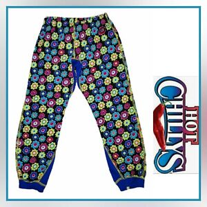HOT CHILLY'S Youth Girls XS 4-6 Floral Winter Snow Ski Base Layer Polyester Pant