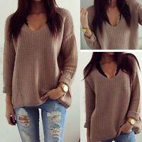 Women Lady Long Sleeve Knitwear Jumper Cardigan Coat Jacket Sweater Pullover Hot