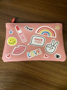 """New! Ipsy Glam Bag June 2021 Makeup Case Pink """"Stickers"""" **COMES W/ FREE 🎁🎁**"""