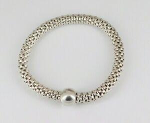 Silpada 925 Sterling Silver Flexible Chic Stretch Bracelet B2788