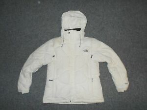 THE NORTH FACE WOMENS LARGE 600 DOWN FILL WINTER WHITE HOODED JACKET