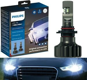 Philips Ultinon Pro9000 LED 5800K 9006 HB4 Two Bulbs Head Light Low Beam Stock