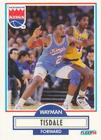 Wayman Tisdale 1990-91 Fleer #167 Sacramento Kings Basketball Card