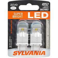 2-PK SYLVANIA ZEVO 4157 White LED Automotive Bulb