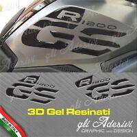 Set Adesivi Fianco Serbatoio BMW R 1200 gs LC STANDARD 2017/18 BLACK 3D resinati