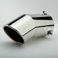 """Universal 2.25/""""Inlet 5.7/"""" long Exhaust Pipe Muffler Tip Silencer Stainless A55"""