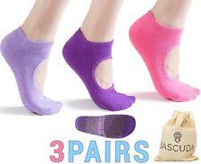Set of Pilates Socks for Women Non Slip Socks with Grips - Ideal for Yoga, Pilat