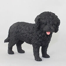 Cockapoo Hand Painted Collectible Dog Figurine Black