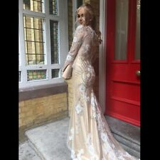Prom dress, gold with embellishment worn once