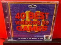 40 Best Windows 95 Games (PC, 1996) BRAND NEW - A535