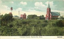 Barnesville Minnesota Catholic Church postcard 4049