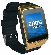 Enox Smartwatch SWP55 in Gold Farbe + Bluetooth Headset