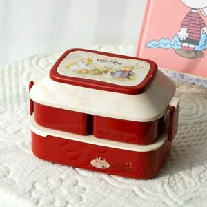 Large Lunch Box For Kids Cartoon Rabbit Student Bento With Independent Boxes