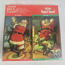 Vintage Hallmark Springbok Christmas Santa Jigsaw Puzzles All In Nights Work USA