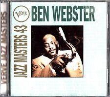 BEN WEBSTER- Verve Jazz Masters 43- CD- Benny Carter/Ella Fitzgerald