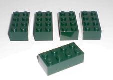 JEU JOUET ENFANT Personnage LEGO * Lot 5 BRIQUES 2X4 - VERT BOUTEILLE * !!