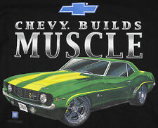 Camaro Chevy Builds Muscle T-Shirt Black Car Auto Z28 BABA