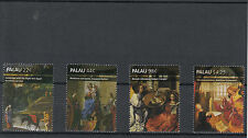 Palau 2011 MNH Christmas Nativity Paintings 4v Set Robert Campin Art Stamps