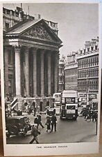 English Postcard Mansion House London England Uk 1940s Raphael Tuck Tuck's w Pm