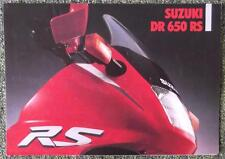 SUZUKI DR 650 RS MOTORCYCLE SALES BROCHURE ANNI' 90? (testo tedesco)